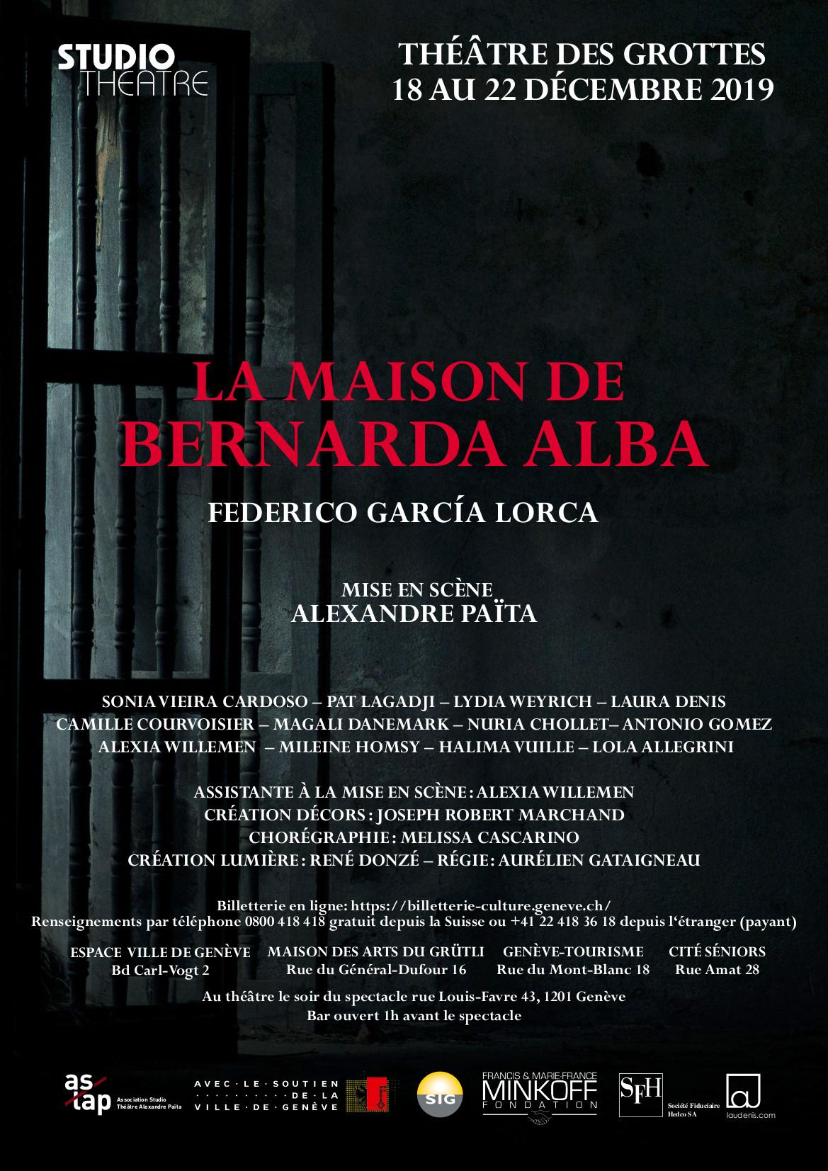 La Maison de Bernarda Alba | García Lorca
